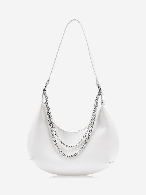 Hälfte Zugeknöpfter Stein und Passen Sie Ihre Verschiedenen Kleider - Weiß  Mobile