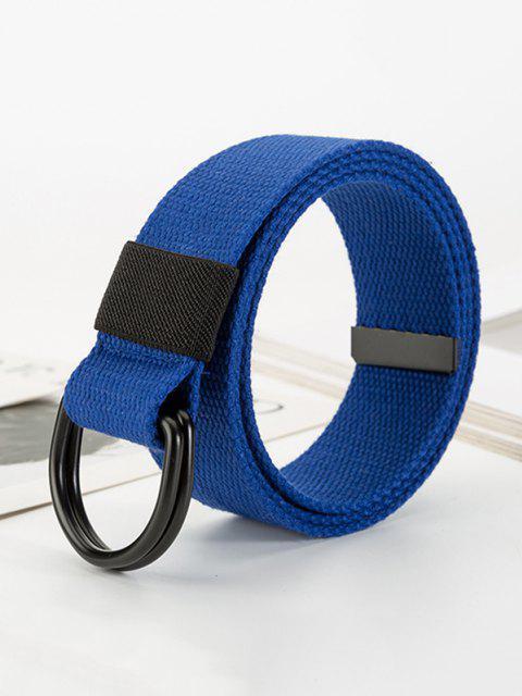 Freizeit Unisex Canvas Doppelring Schnalle Gürtel - Blaubeere  Mobile