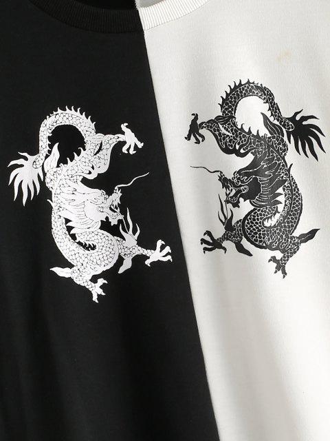 Drache Orientalische Zweifärbiges Sweatshirt - Multi S Mobile