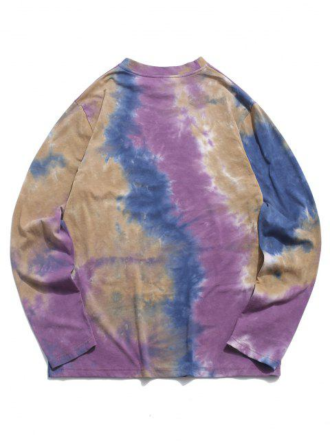online ZAFUL Face Figure Print Tie Dye T Shirt - CONCORD L Mobile