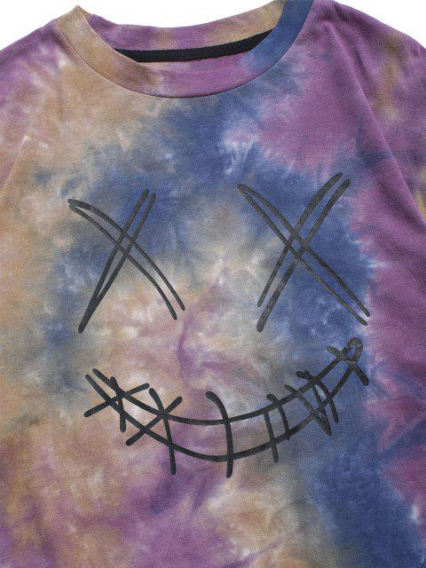 online ZAFUL Face Figure Print Tie Dye T Shirt - CONCORD XL Mobile