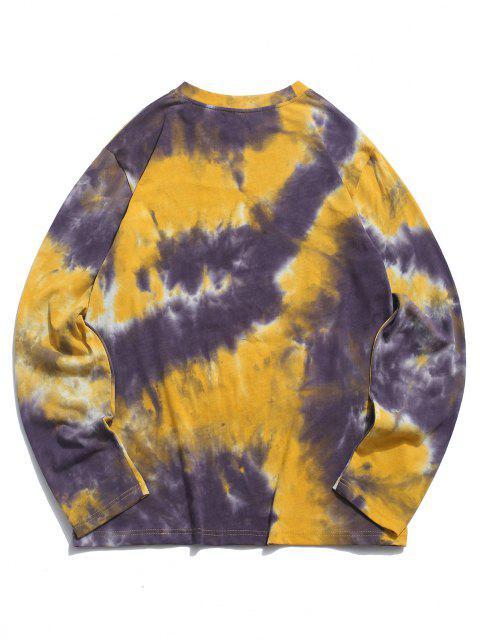 ZAFUL Camiseta de Tie-dye con Estampado de Figura - Amarillo profundo XL Mobile