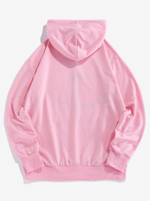 ZAFUL Luminous Astronaut Muster Hoodie - Hell-Pink 2XL Mobile