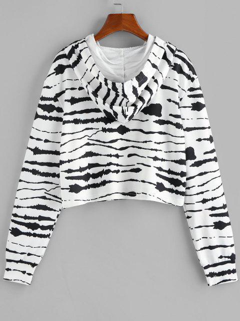 fashion ZAFUL Tie Dye Drawstring Pullover Hoodie - BLACK S Mobile