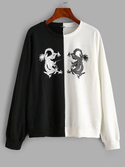 Dragon Oriental Two Tone Sweatshirt - Multi S