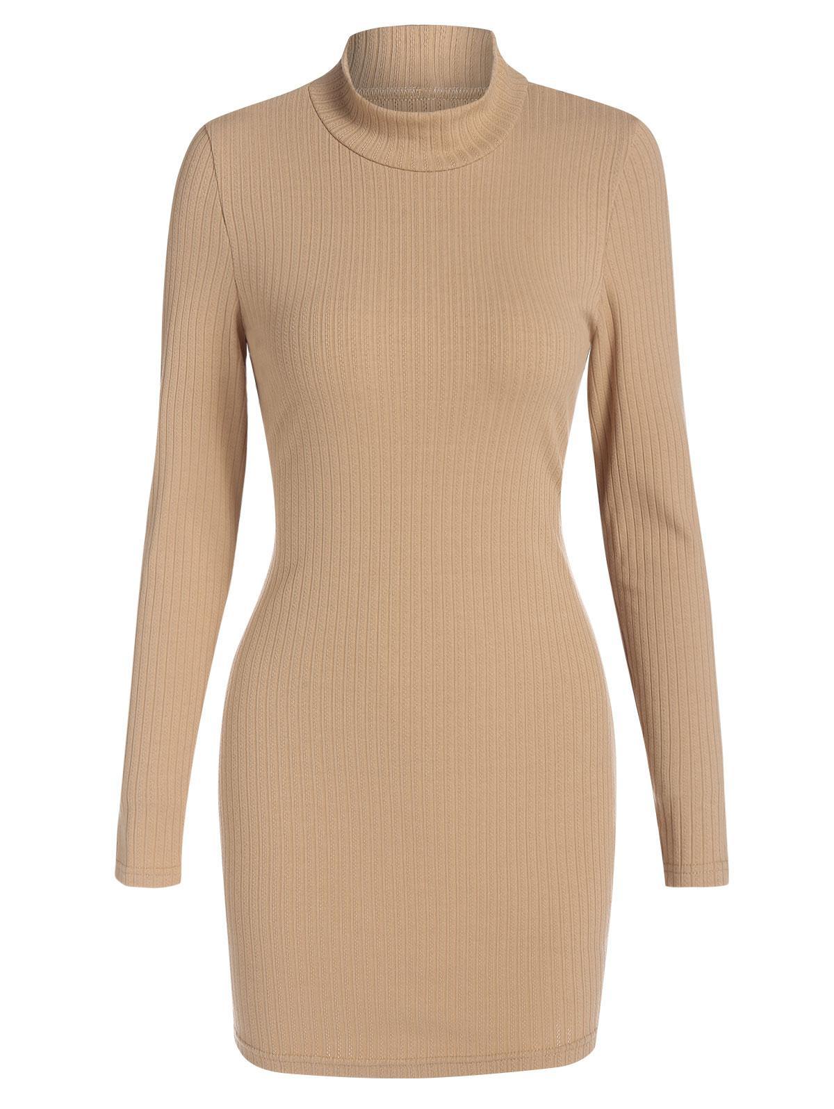 ZAFUL Cutout Mock Neck Mini Bodycon Dress