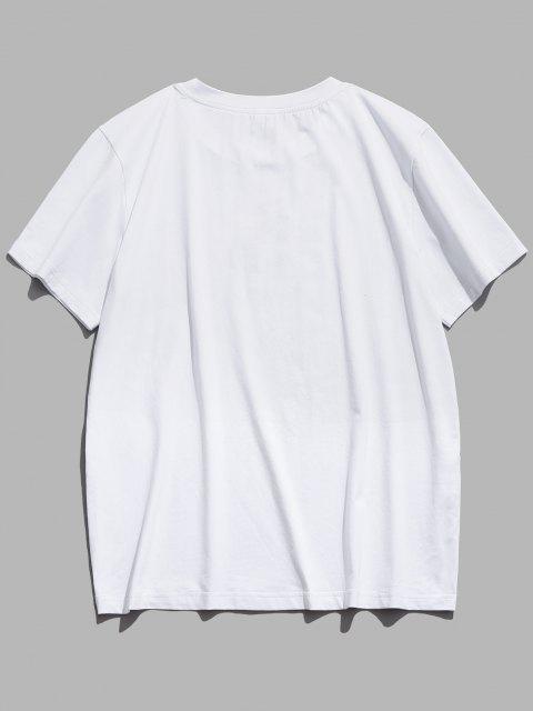 unique ZAFUL Flamingo Cactus Animal Beaches Negril Graphic T-shirt - WHITE L Mobile