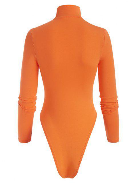 Body Senza Schienale e Perizoma con Collo Alto - Arancio S Mobile