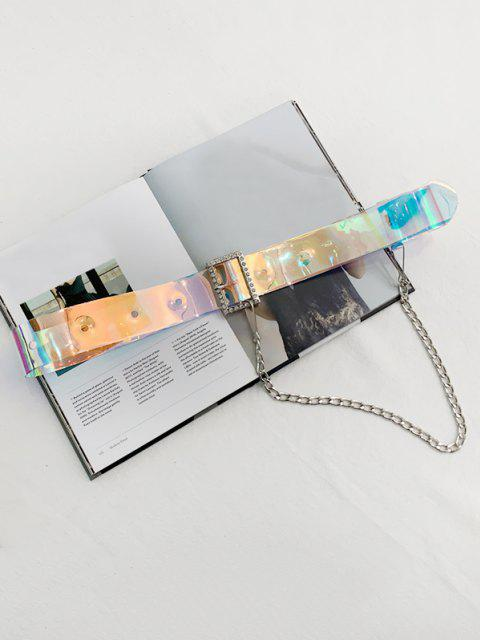 chic Punk Chain Holography Transparent Belt - MULTI-A  Mobile