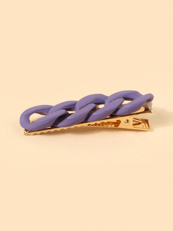 Chain Shape Hollow Hair Clip - أرجواني