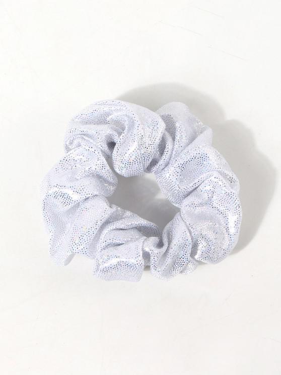 Glitter Sequins Fabric Scrunchie - أبيض
