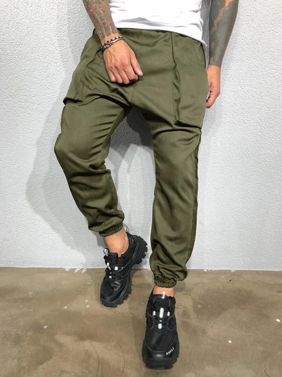 Pantalones Lápiz Ajustados Pierna Grande - Ejercito Verde L