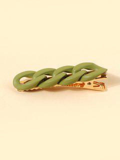 Chain Shape Hollow Hair Clip - Green