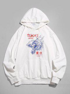 ZAFUL Sweat à Capuche Motif De Dragon Tokyo - Blanc Xl