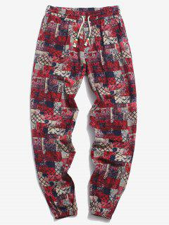 ZAFUL Allover Tribal Pattern Beam Feet Pants - Coffee Xl