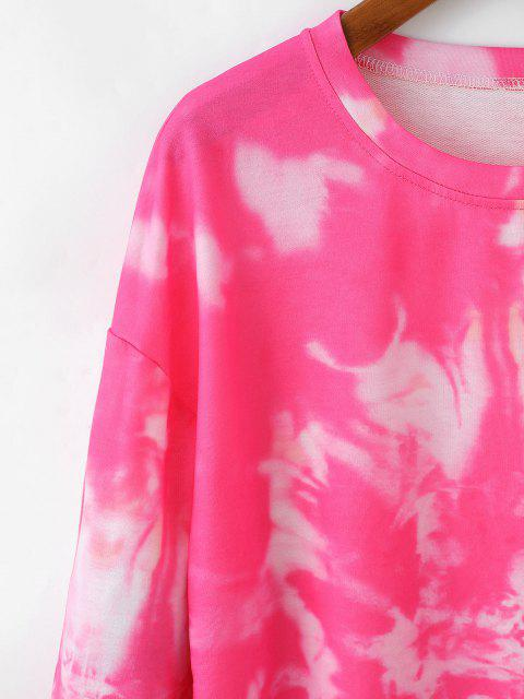 outfit Pullover Tie Dye Sweatshirt - ROSE RED M Mobile