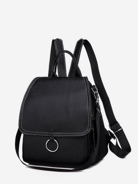 women Cover O Ring Small Backpack - BLACK  Mobile