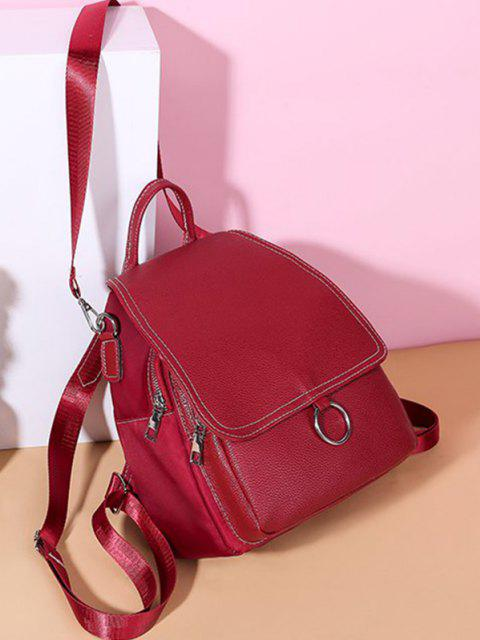 women's Cover O Ring Small Backpack - DEEP RED  Mobile