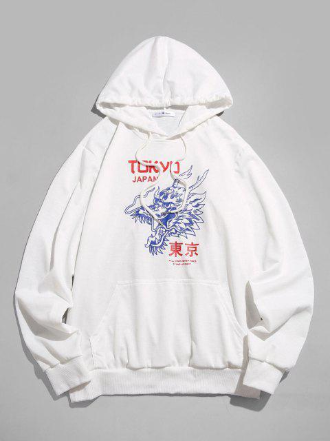 shops ZAFUL Tokyo Japan Dragon Pattern Hoodie - WHITE XL Mobile