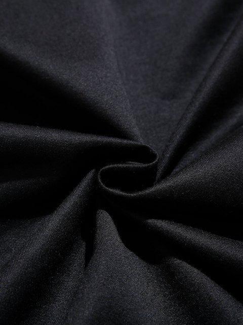 ZAFUL Sweat à Capuche Perroquet Feuille Tropicale Imprimée avec Poche Kangourou - Noir S Mobile