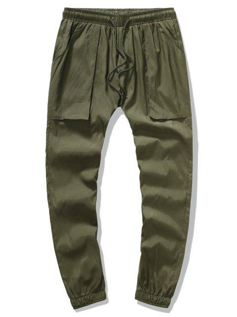 Pantalones Lápiz Ajustados Pierna Grande - Ejercito Verde L Mobile