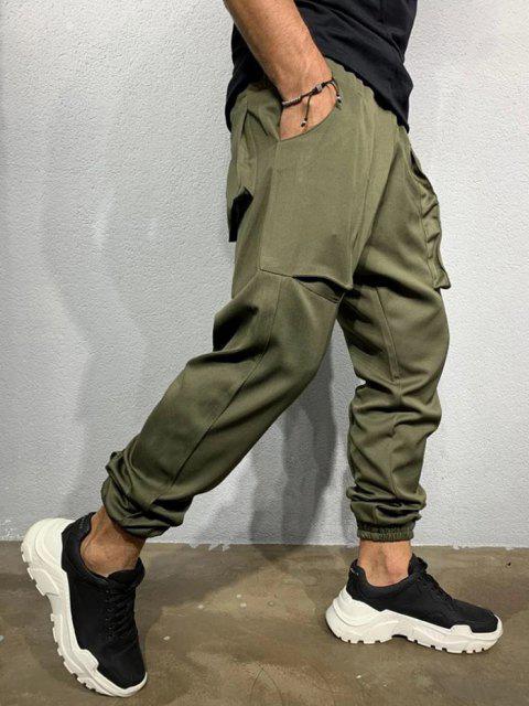 Pantalones Lápiz Ajustados Pierna Grande - Ejercito Verde M Mobile