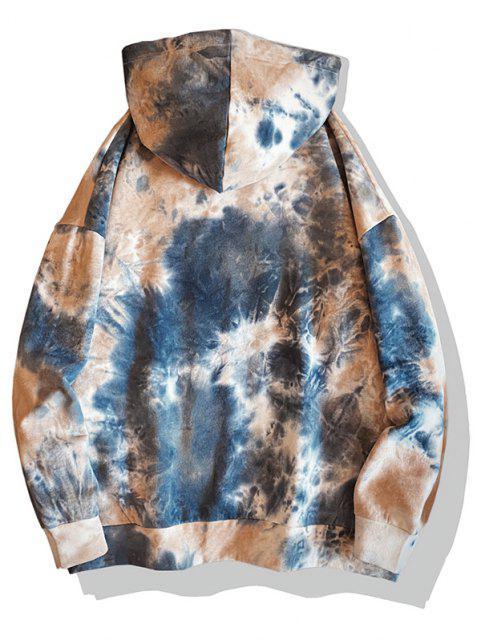Krawattenfärbender Druck Fallschulter Hoodie - Blaubeere 2XL Mobile
