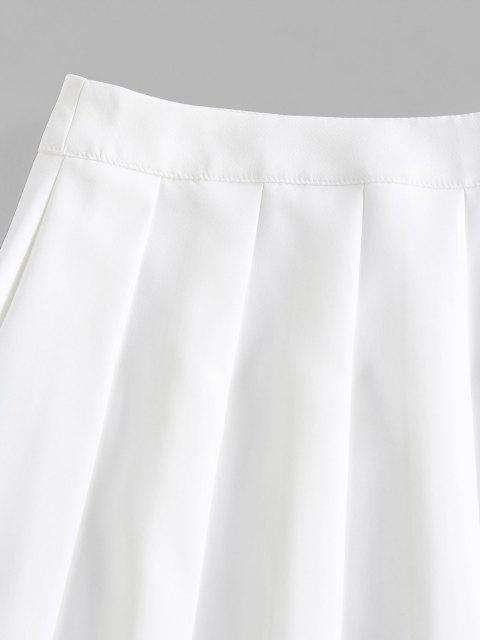ZAFUL Mini-Jupe Plissée à Taille Haute - Blanc XL Mobile