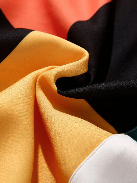 outfit Colorblock Front Pocket Lounge Hoodie - PUMPKIN ORANGE 3XL Mobile
