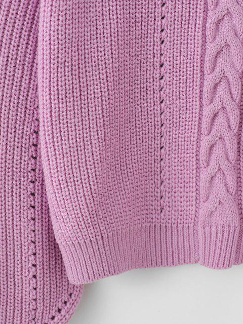 Maglione con Spalle Scivolate - Viola chiaro Taglia unica Mobile