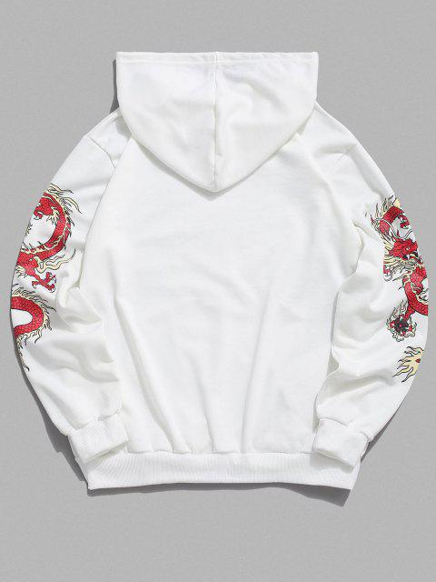 latest Chinoiserie Dragon Pattern Hoodie - WHITE XL Mobile