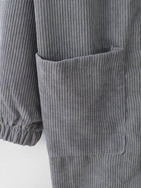 Abrigo de Pana con Abertura Frontal y Bolsillo - Platino M Mobile