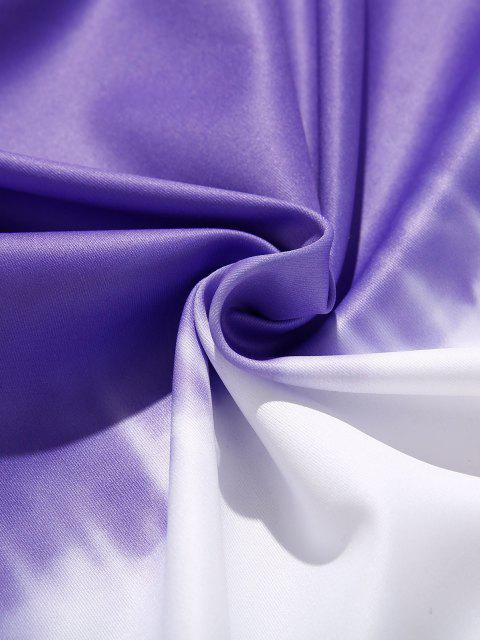 Krawattenfärbende Tunnelzug Vorder Taschen Hoodie - Lila XL Mobile