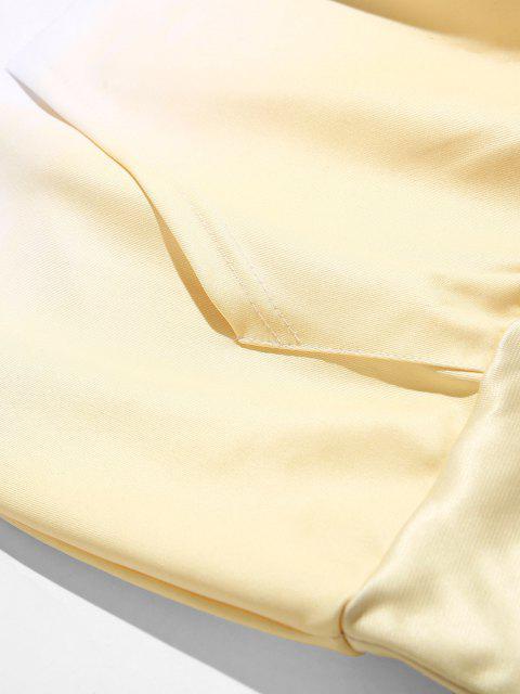 Krawattenfärbende Tunnelzug Vorder Taschen Hoodie - Dunkles Himmelblau XS Mobile