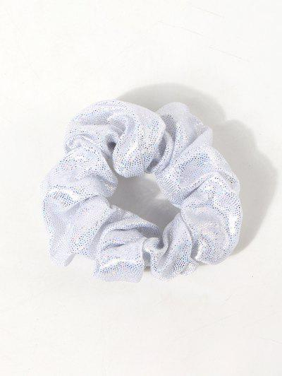 Glitter Sequins Fabric Scrunchie - White