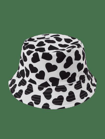 Reversible Heart Printed Bucket Hat