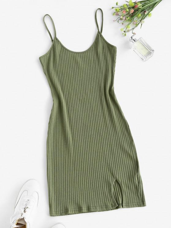 sale Wide Rib Bodycon Cami Dress - GREEN XL