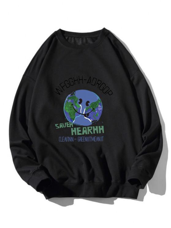 Camiseta Estampado Gráfico Tierra - Negro XL