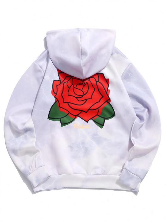 outfits Flower Roses Lightning Print Hoodie - LILAC 2XL