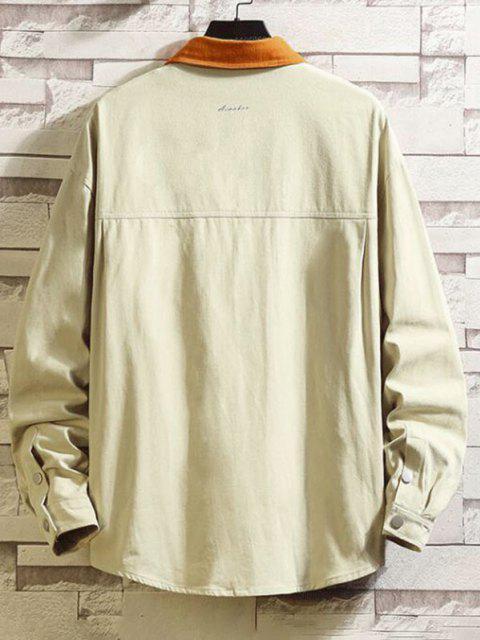 Veste Bicolore à Goutte Epaule avec Poches à Rabat - Kaki Léger 4XL Mobile