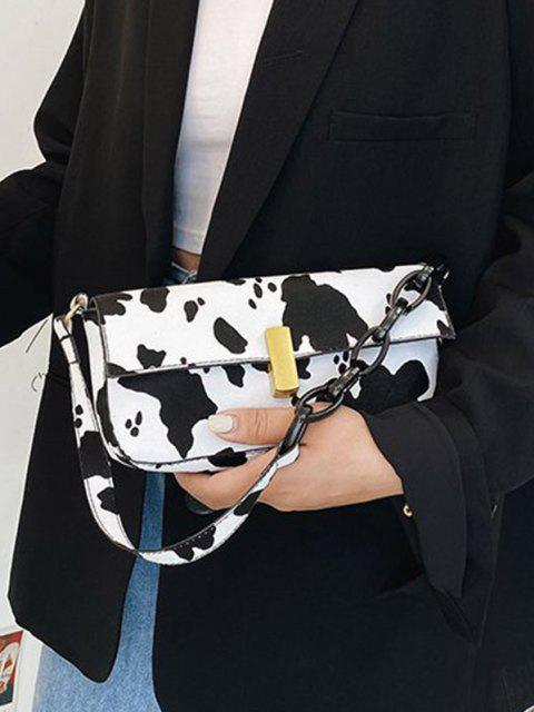 outfits Cow Printed Chain Shoulder Bag - WHITE  Mobile