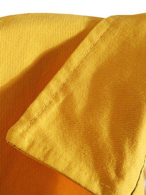 Veste Chemise Jointif LettrePanneauen Blocs de Couleurs - Jaune Clair M Mobile
