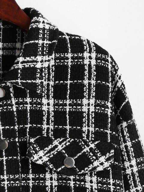 ZAFUL Chaqueta Tweed a Cuadros - Negro S Mobile