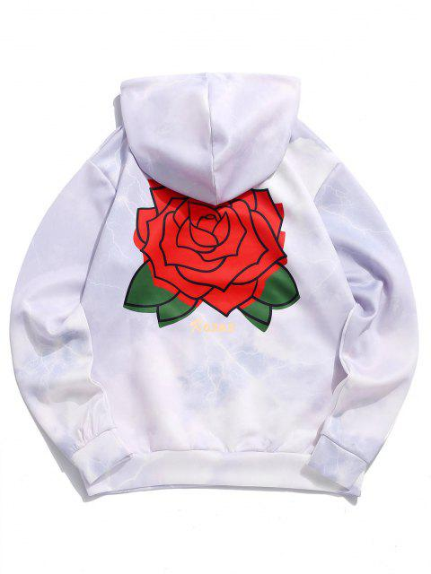sale Flower Roses Lightning Print Hoodie - LILAC XL Mobile