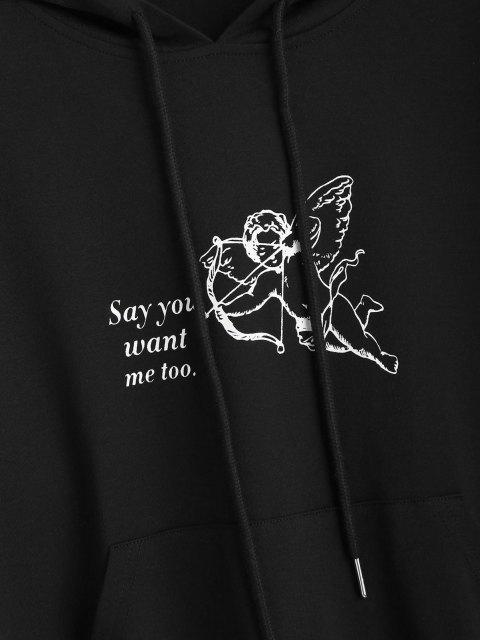 online ZAFUL Graphic Renaissance Art Angle Print Hoodie - BLACK M Mobile
