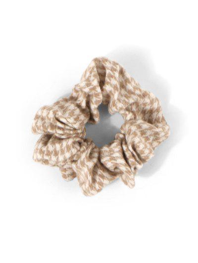 Шерстяная Резинка для волос Принт гусиные лапки - Хаки