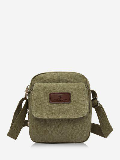 Mini Canvas Leisure Crossbody Bag - Verde Deschis