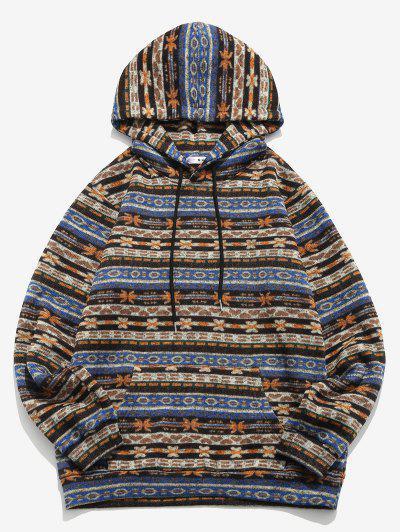 Zaful / ZAFUL Tribal Pattern Kangaroo Pocket Fleece Hoodie