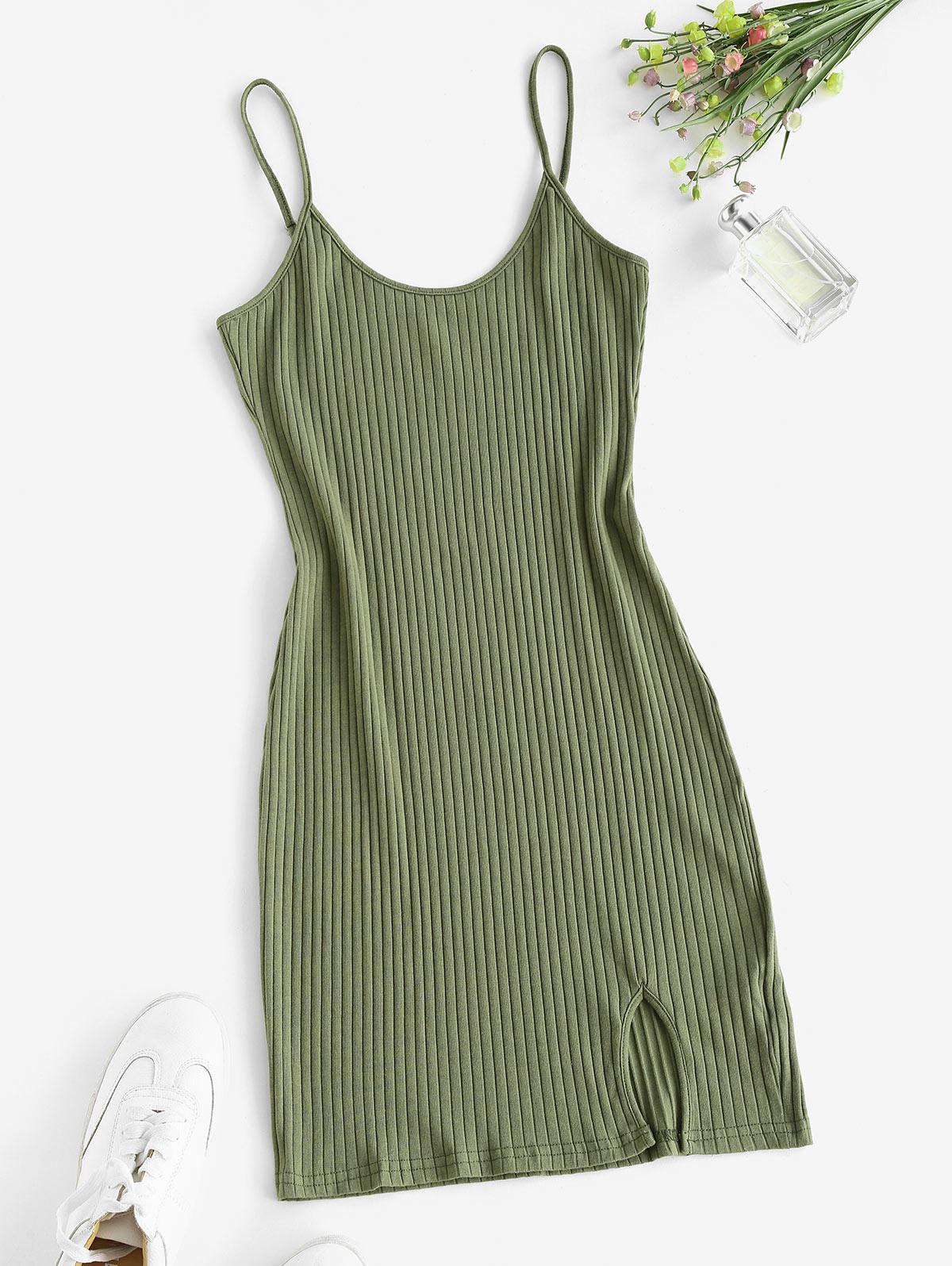 Wide Rib Bodycon Cami Dress