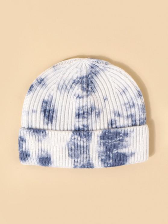 affordable Tie Dye Ribbed Knitted Hat - SKY BLUE